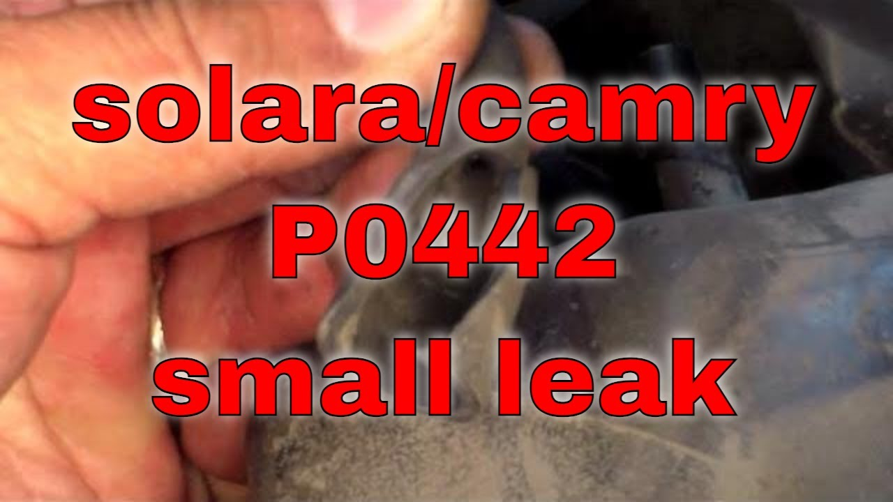 medium resolution of quick fix p0442 evap small leak toyota solara camry fix it angel