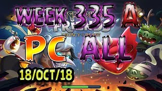Angry Birds Friends Tournament All Levels Week 335-A PC Highscore POWER-UP walkthrough