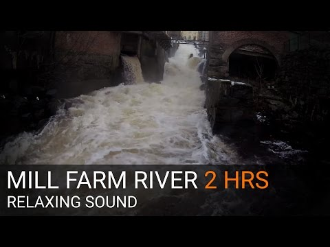 RELAXING SOUND & VIDEO - Old mill farm river 2 HOURS - long version