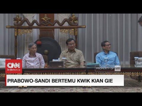 Prabowo-Sandi Bertemu Kwik Kian Gie, Ini Yang Dibahas