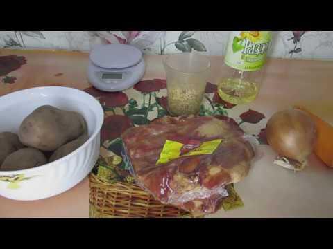 Гороховый суп из свиных копченых ребрышек.