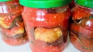 Баклажаны в остром томатном соусе. Готовим с Инной