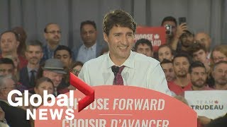 Canada Election: Liberal leader Justin Trudeau holds rally in Windsor, Ontario