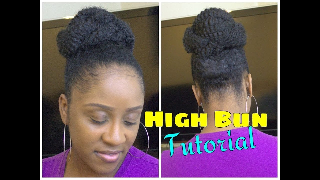 Easy Marley Braid High Bun Natural Hair Tutorial Youtube