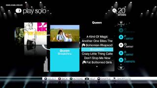 SingStar Queen (intro & playlist / song list) - Sony Playstation 3 - VGDB