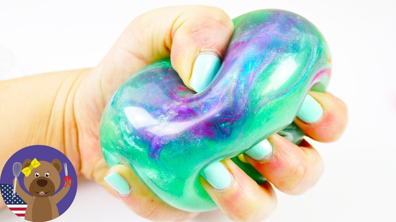 how to make galaxy slime stress balls without borax