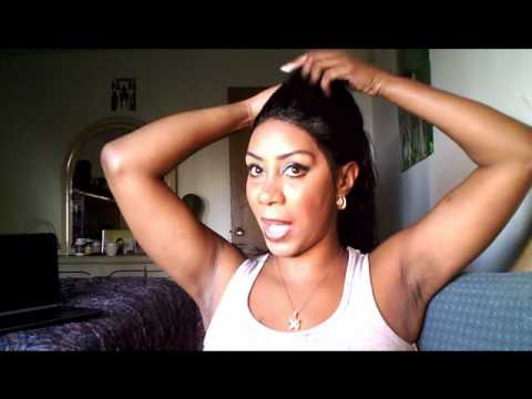 How To Do A Updo In A Full Lace Wigs Youtube