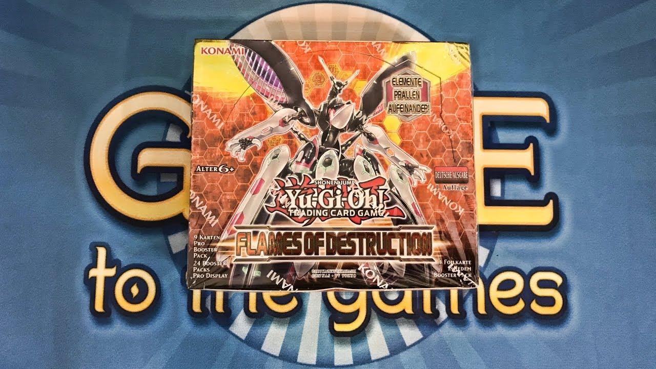 Flames of Destruction Display Opening/Unboxing Yugioh Karten - YouTube