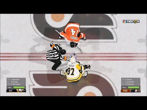 NHL 19 - Philadelphia Flyers vs Pittsburgh Penguins - Gameplay (HD) [1080p60FPS]