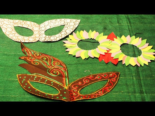Mask making for kids || How to make a Party mask with paper  || #my creative hub
