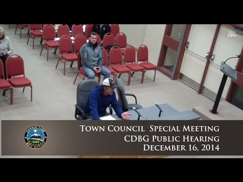 Town of Taos Town Council Special Meeting - Dec. 16, 2014