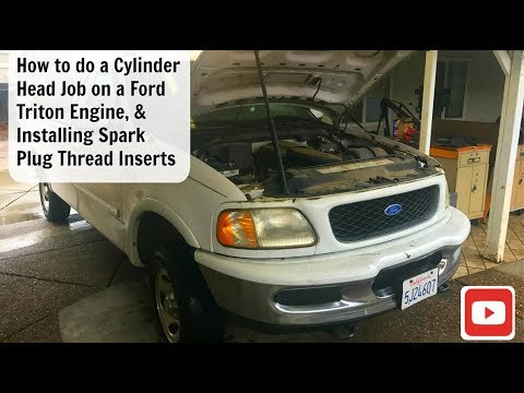 Ford F150 4.6 Triton Cylinder Head Job / Engine Replacement / Spark  Ford F L V Engine Diagram on