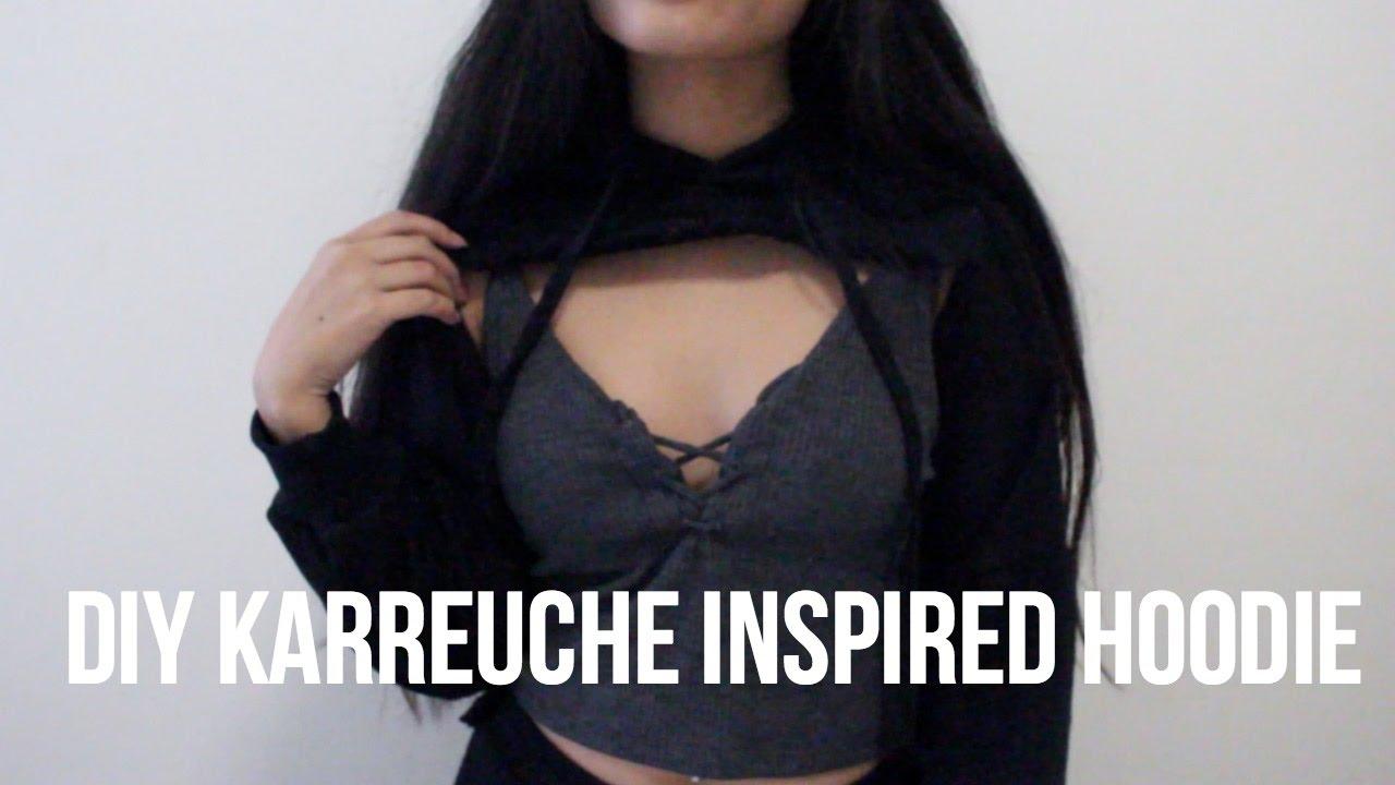 7f9e8546a762d3 DIY Karrueche Inspired Hoodie - YouTube