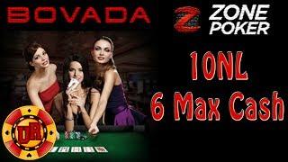 10NL Bovada Poker - Zone Poker EP 1 - Texas Holdem Poker Strategy - Cash Game