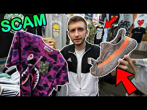 BUYING FAKE YEEZYS, BAPE, LV SUPREME IN HONG KONG!!! THEY TRIED TO SCAM US