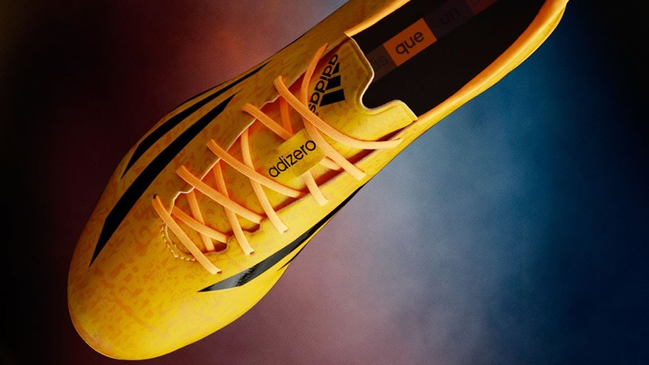 9cd61ceefca0 Lionel Messi's new Golden F50 adiZero IV by adidas - YouTube