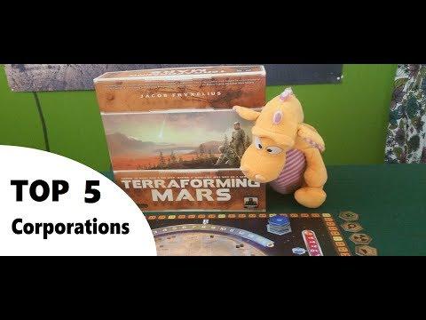 Terraforming Mars - Top 5 Corporations