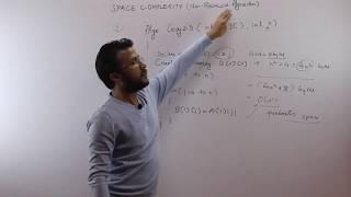 Space complexity for non-recursive algoirthm