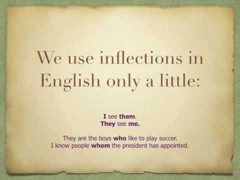 inflected language and syntax