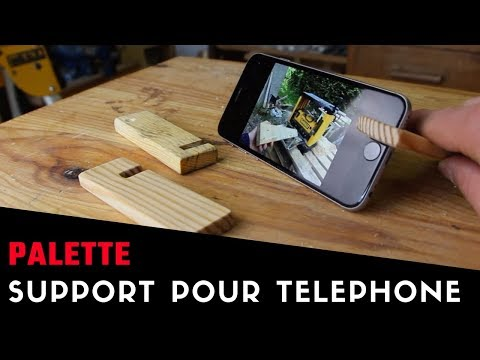 Fabrication d'un mini support pour téléphone en palette