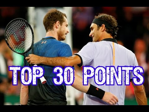 Roger Federer vs Andy Murray - Top 30 Exhibition Points ● Match for Africa