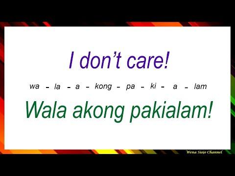 English Tagalog Common Negative Phrases # 153
