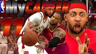 My EYES BE BUGGIN / Scared of LeBron? - NBA 2K17 MyCareer #11