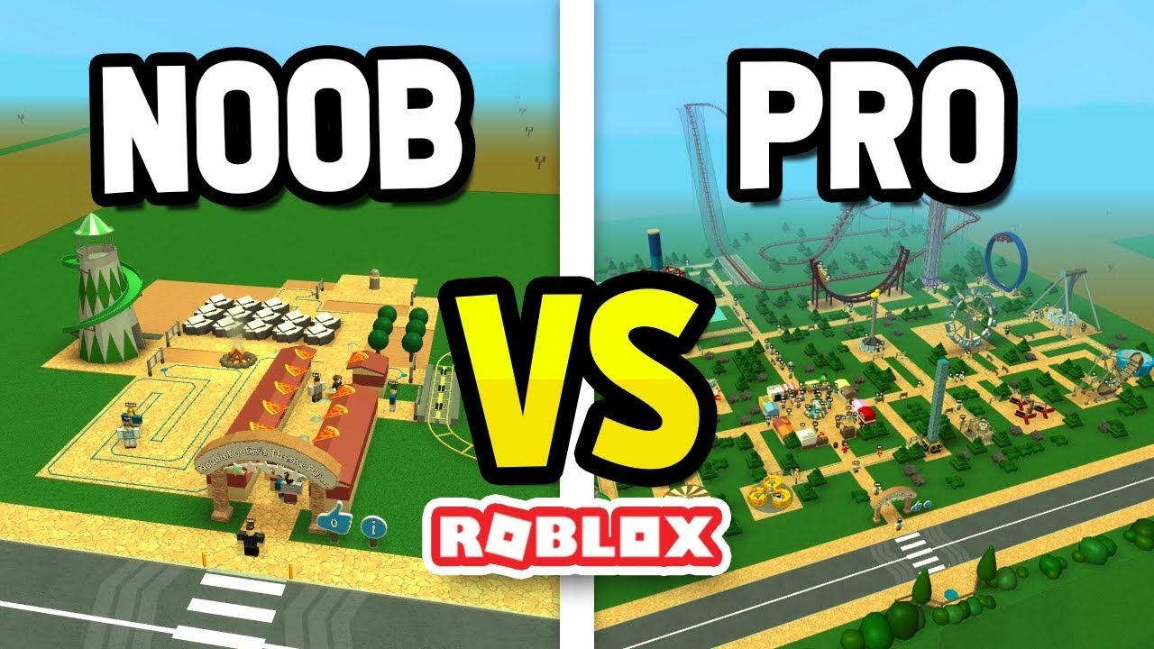 ROBLOX NOOB vs PRO in THEME PARK TYCOON