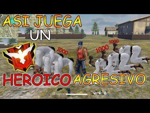 JUGANDO AGRESIVO en HEROICO - HIGHLIGHTS #1 - Mejores Momentos Divertidos - FREE FIRE RANDOM