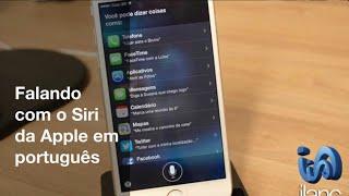 Conversando com o Siri da Apple em português