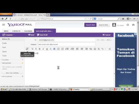 How To Send Email via Yahoo with File Attachment - YouTube - email with resume