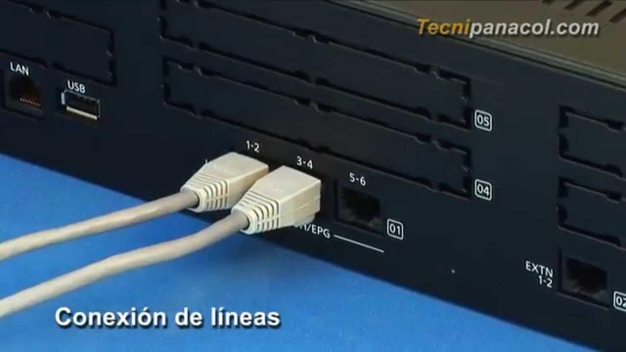 Conexión Básica de la Planta KXNS500  YouTube