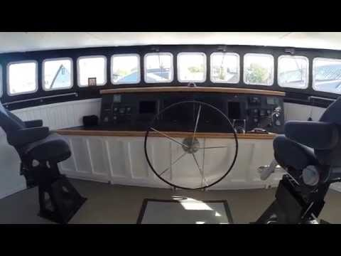 Rogue 90' Wave piercing Explorer cat wheelhouse and captain's cabin