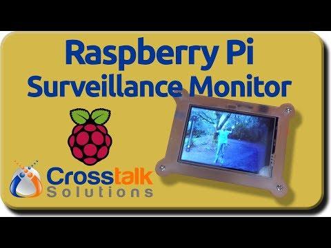 Raspberry Pi Surveillance Monitor - YouTube