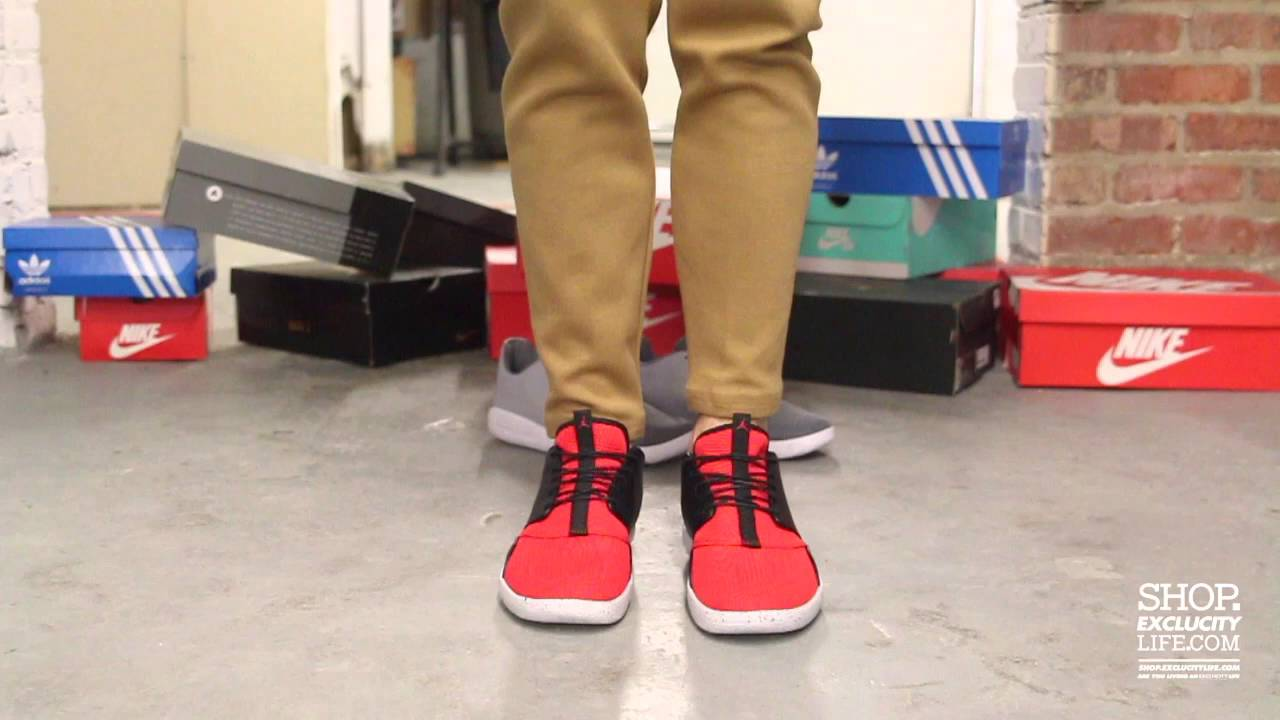 11f9a3f4ae68 ... where to buy jordan eclipse black varsity red on feet video at  exclucity youtube 97cee 4a7b6