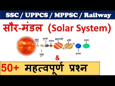 solar system | solar system planets | सौर मंडल  Important Notes for SSC , UPPCS, MPPSC ,RAILWAY