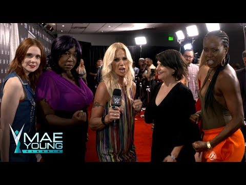 "The cast of Netflix's ""GLOW"" arrive for the Mae Young Classic Finale: Exclusive, Sept. 12, 2017"