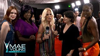 """The cast of Netflix's """"GLOW"""" arrive for the Mae Young Classic Finale: Exclusive, Sept. 12, 2017"""
