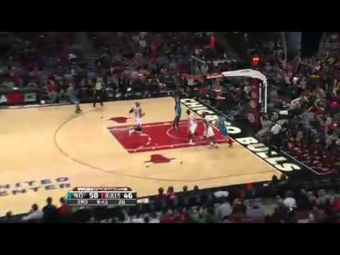 Hilarious Block and Dunk | New Orleans Hornets Vs Chicago Bulls | 11_03_2012 | NBA Season 2012-13