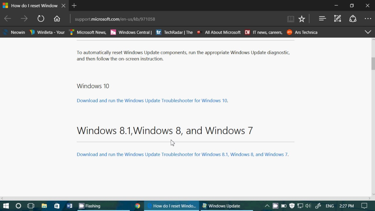 Windows update troubleshooter - Fixit Windows Update Fixit Tool For Windows 10 81 8 And 7 Also For Insiders Who Can Update Builds