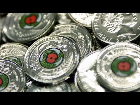 How the Armistice Day coin is made