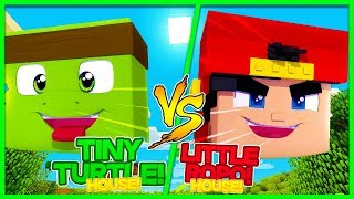 Minecraft - TINYTURTLE HOUSE VS ROPO HOUSE! THE ULTIMATE HOUSE BATTLE!