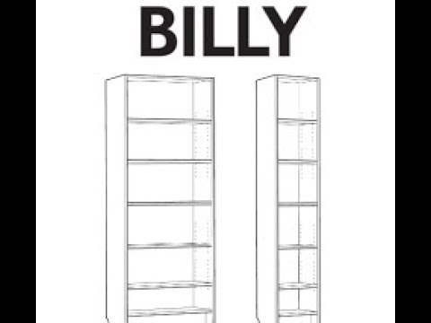 Libreria Con Ante In Vetro Ikea.Billy Istruzioni Ikea Instructions Tutorial Youtube