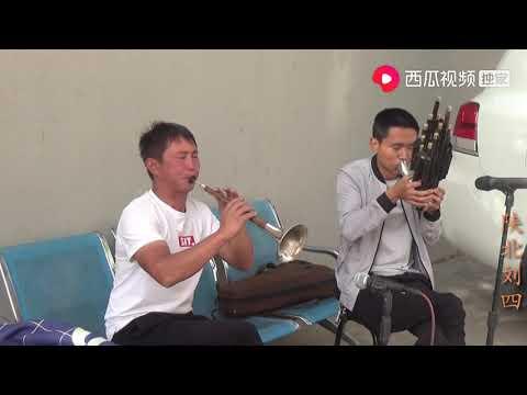 陕北刘四:农村结婚请来唢呐乐队,师傅们卖力演奏,唢呐手吹得真是好听