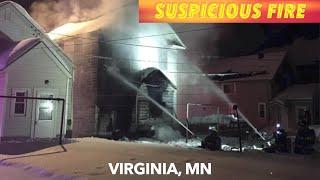 Suspicious Fire On Iron Range