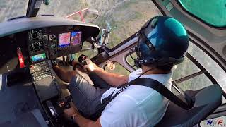 Hélicoptère H125 - Travaux héliporté ligne électrique HTA, sud France - HDF Hélicoptère de France