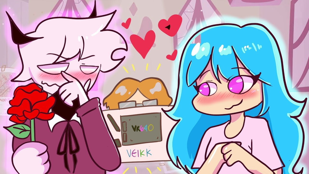 Friday night funkin' SELEVER AND SKY DATE WEEK | REVIEW OF VEIKK VK640 DRAWING TABLET 🤩