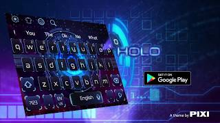 Popular Cool Neon Wolf Keyboard Theme  Related to Apps