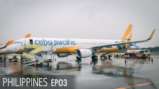 Cebu Pacific Manila to Cebu | Flying in a Typhoon