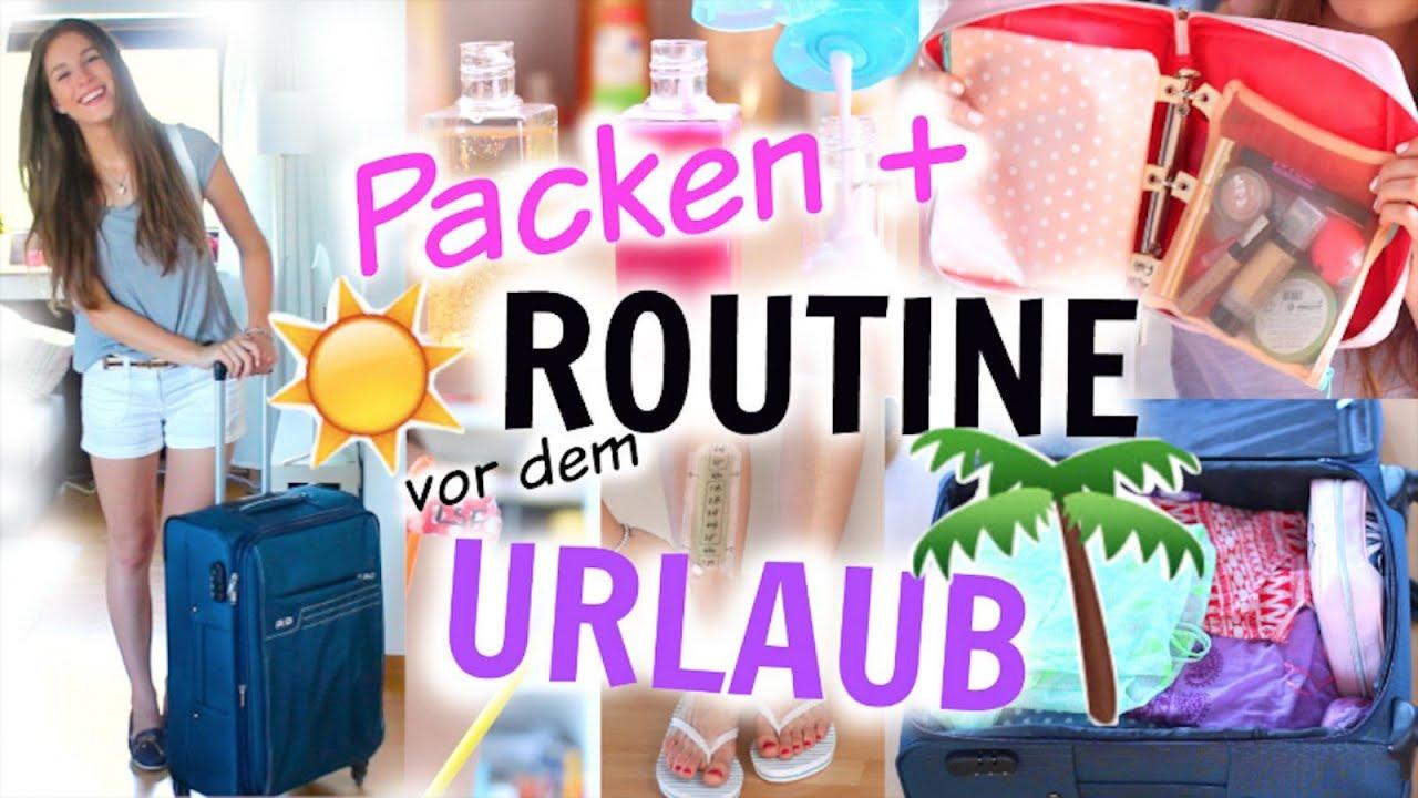URLAUBS ROUTINE! nützliche REISE-HACKS, KOFFER PACKEN, ESSENTIALS + OUTFIT ♡ BarbieLovesLipsticks